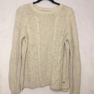 Hollister Heavy Cable Knit Sweater. Size L.